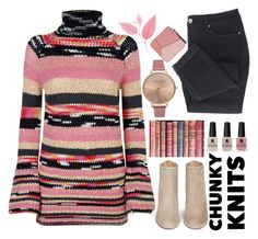 """""""So cozy chunky knits"""" by puljarevic ❤ liked on Polyvore featuring Loewe, WALL, Missoni, Olivia Burton, Aquazzura, Victoria's Secret, Pink and chunkyknits"""
