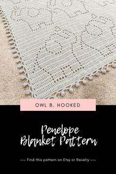 Penelope (Elephant) Crochet Blanket Pattern - Simple, modern, and fun peek-a-boo filet crochet pattern design. Filet Crochet, Crochet Baby Blanket Free Pattern, Crocheted Baby Blankets, Crochet Heart Blanket, Free Crochet Blanket Patterns, Crochet Elephant Pattern Free, Modern Crochet Blanket, Crochet Bedspread Pattern, Baby Afghan Patterns