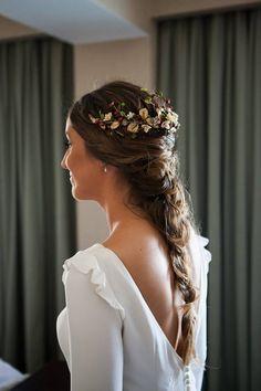 Stunning Wedding Hairstyles For Elegant Bride Casual Hairstyles, Bride Hairstyles, Wedding Braids, Hair Wedding, Wedding Art, Wedding Hair Inspiration, Elegant Bride, Good Hair Day, Bridal Looks