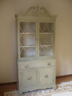annie sloan olive chalk paint, hardware, china cabinets, anni sloan, interiors, furnitur diy, paints, hutch inspir, bestchina oliv