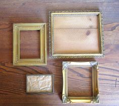 Collection of Gold Ornate Picture Frames. Picture collage, wall collage, instant collection, vintage.