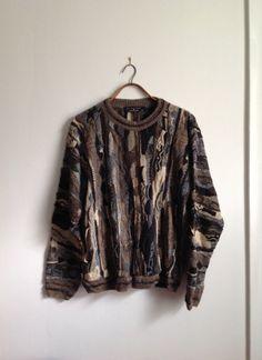 Vintage 90s Textured Sweater Coogi Style   Crew neck  Men s Size XL    Protege Collection   Rap Hip-Hop 6753f602d6e