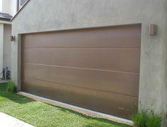 Contemporary Flat Panel Garage Doors Custom Homes By