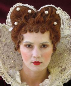 Wicked Stepmother reference Elizabethan - l like the pin curl bangs