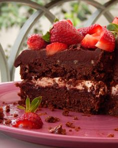 Ciasto cappuccino w 20 minut - Obżarciuch Chocolate Strawberry Cake, Strawberry Cakes, Chocolate Cake, Homemade Cakes, Greek Recipes, Food And Drink, Pudding, Sweets, Cooking
