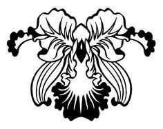 flor art nouveau