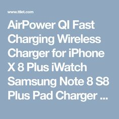 AirPower QI Fast Charging Wireless Charger for iPhone X 8 Plus iWatch Samsung Note 8 S8 Plus Pad Charger with Retail Package