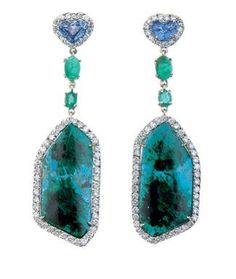 Kimberly Mcdonald earrings. Could do without those blue hearts, though...
