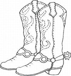 coloring sheet  #Cowboy #Boots