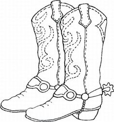 Cowboy Boot Coloring Sheet #Boots #Cowboys