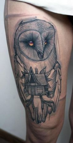 Barn owl I would like it better on arm but nice still