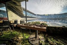 The Shell if Silverdome Building is left abandoned in Detroit