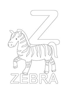 alphabet coloring pages download
