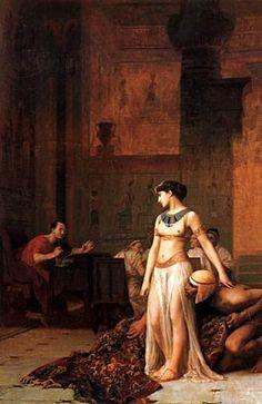 Cleopatra before Caesar, Jean-Leon Gerome