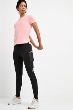 From deadlifts to jumping lunges, these adidas Alphaskin Long Tights give you a supportive fit and feel that inspire your best effort. Mesh panels behind the knees keep you feeling cool. Leggings Negros, Next Uk, Uk Online, Black Adidas, Shoe Brands, Black Leggings, Adidas Women, Tights, Upcycling