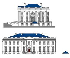 Recreation of the the White House in 1801, east and north views.   (Patrick Phillips)
