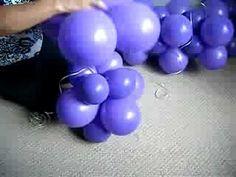 Vídeo aula para fazer uma parede de balões – Artesanato Brasil