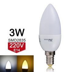 LED Candle Bulb E14 220V 240V 3W LED Lamp SMD2835 Lampada Ampoule LED Light Chandelier High Quality Warm/Cold White