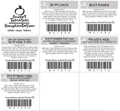 Enjoy this weekend with this Sweet Tomatoes & Souplantation new set of weekly coupons. Most the coupons this week are good through 07/05/2012 but there are a couple who have specific dates for use. Just click on the button below to print out this weeks coupons and have a safe and enjoyable holiday weekend!    Come on in on the 4th of July!  Sweet Tomatoes & Souplantation will be open form 11am-8pm on July 4th, so stop by and get recharged and keep the celebration going.