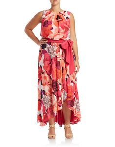 Brands | Dresses | Plus Floral Maxi Dress | Lord and Taylor