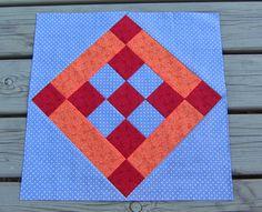 "Tilkkureppu: Toukokuun BOM ""Nine Patch on Point"" Nine Patch, Patches, Quilts, Blanket, Quilt Sets, Quilt, Rug, Blankets, Log Cabin Quilts"
