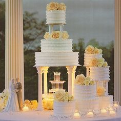 Image result for wilton wedding cake with fountain