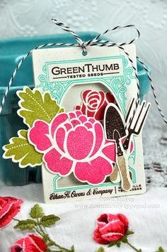 Garden-themed Garland by Dawn McVey for Papertrey Ink (March 2012)