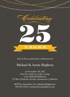 Company Anniversary Invitation Card Design