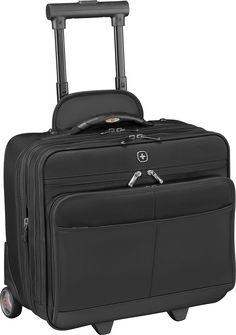 Wenger - Capital Expandable Wheeled Laptop Briefcase - Black, 601370