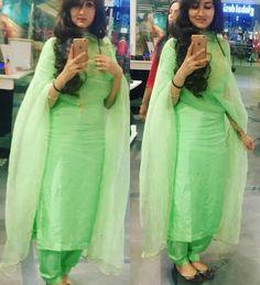 Shop salwar suits online for ladies from BIBA, W & more. Explore a range of anarkali, punjabi suits for party or for work. Designer Punjabi Suits, Indian Designer Wear, Designer Sarees, Indian Suits, Indian Wear, Indian Style, Embroidery Suits Punjabi, Indian Embroidery, Patiala Salwar Suits