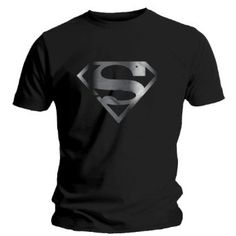 "T-Shirt Homme Noir Superman ""Silver Foil Logo"" (Taille S) Superman Shoes, Superman Outfit, Black Superman, Superman T Shirt, Superman Logo, Batman Vs, T Shirt Photo, Love Shirt, Amazon T Shirt"