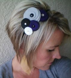 HeadbandFlowerFeltFive Flower Cluster Headband mod by NoPlainTs Satin Flowers, Felt Flowers, Fabric Flowers, Felt Headband, Headbands, Sewing Scarves, Felt Hair Accessories, Hair Setting, Denim Crafts