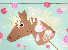 So you celebrate a funny horse birthday - Horse birthday, kid& birthday, hobby horse tinker, instructions You - Horse Birthday, Birthday Diy, Happy Birthday, Birthday Parties, Crafts For Girls, Diy For Kids, Diy Invitations, Birthday Invitations, Pippi Longstocking