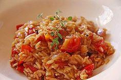 Tomatenreis portugiesische Art, ein gutes Rezept aus der Kategorie Reis/Getreide. Bewertungen: 69. Durchschnitt: Ø 4,4.