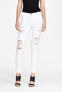 Women s Frame Le Color Rip Skinny Jeans  add White Ripped Jeans 550a9801596ac