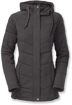 The knit fabric gives this jacket a casual feel.