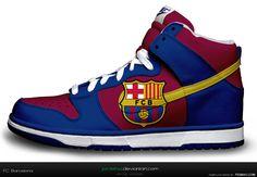 Nike Dunk - FC Barcelona  computer designed by Jordehzz