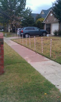 outdoor candy cane christmas light holders made from pvc pipe - Christmas Light Holders