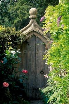 Gate to the Secret Garden ~ Castle Combe, Wiltshire County, Cotswolds, England (Kindra Clineff Photography) Garden Entrance, Garden Doors, Garden Gates, Balcony Garden, Garden Deco, Garden Art, Door Gate, Fence Gate, Fences