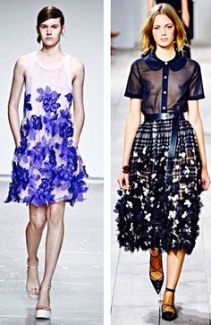 Fashion trend from New York Fashion Week SS15 - 3D flower appliqués