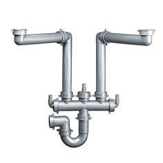 ASTINI Universal 2 Bowl #Kitchen Sink Plumbing Kit ST05B