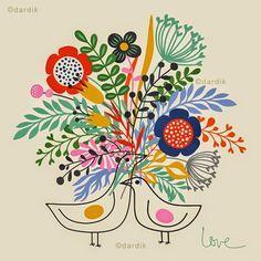 Ilustraciones que te alegran el corazón de Helen Dardik http://www.mbfestudio.com/2015/01/ilustraciones-de-helen-dardik.html     #ilustración #illustration #art #arte #print #poster #postcard #HelenDardik