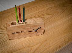Wood Table Clock / Red Oak Table Clock / Office Table Clock / Wood small Thing / wood clock / 원목 시계 / 탁상 시계 / 핸드메이드 / and wood furniture / 원목 목공방 / 주문제작전문