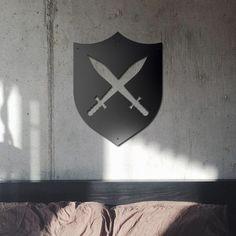 Deccort | Shield Metal Tablo Clock, Metal, Wall, Poster, Home Decor, Watch, Homemade Home Decor, Clocks, Metals