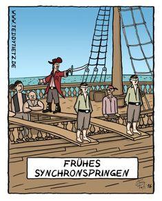 Cartoon der Woche: Frühes Synchronspringen - Lehrer-Online
