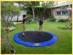 Cooke Industries In-Ground Trampoline - our preferred tramp.  No retaining wall required, no timber etc.  Patent pending design.