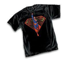 Superman Launch by Michael Turner Black T-Shirt