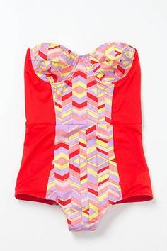 Anthropologie Isometric Maillot Swimsuit