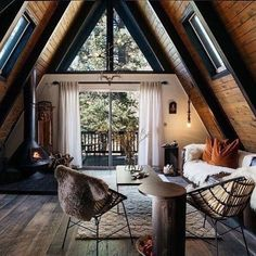This wonderful incredibly cozy cottage was created for romantics or for a friendly family who adores nature. Just imagine: the house is located deep in ✌Pufikhomes - source of home inspiration Rustic Home Interiors, Rustic Home Design, Cabin Design, Modern Cabin Interior, Modern Cabin Decor, Cabin Interior Design, Wood House Design, Brick Interior, Cottage Design