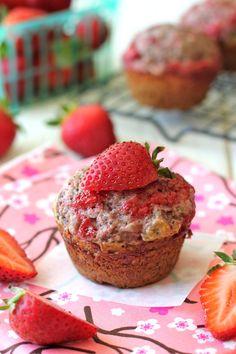 Strawberry Jam Poppyseed Muffins   #strawberries #strawberryfoodrecipes